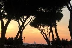 Aussicht vom Aventin über Rom