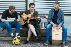 Unplugged Session auf der Terrasse